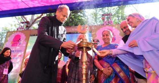 Ashok Gehlot, CM Rajasthan and Margaret Alva, Governor of Rajasthan at the inaugural ceremony of Jaipur Literature Festival 2013