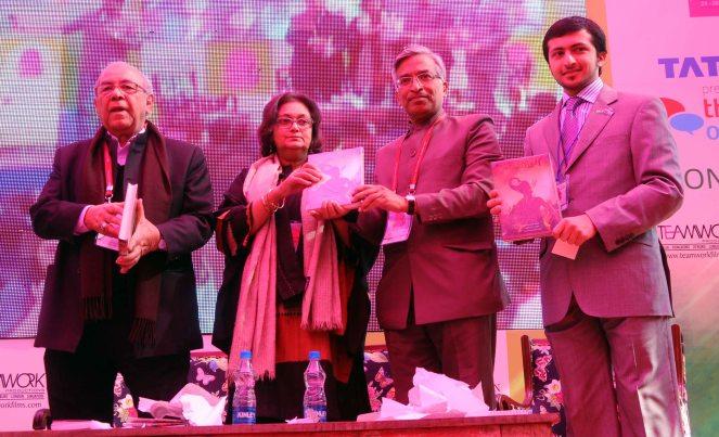 Syed Shahid Mahdi, Namita Gokhale, Suresh  Goel @ DSC Jaipur Literature Festival 2013