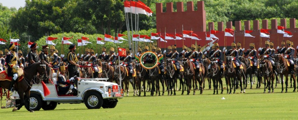 FILE PHOTO OF CAVALRY PARADE BY 61 CAVALRY