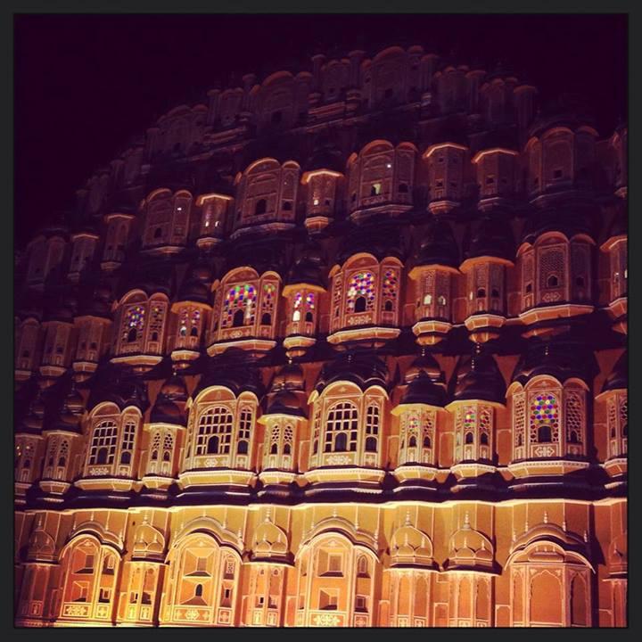 Hawa Mahal by Night