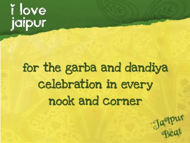 i love jaipur-garba