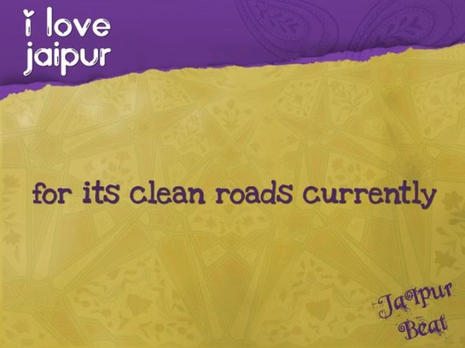 i love jaipur roads