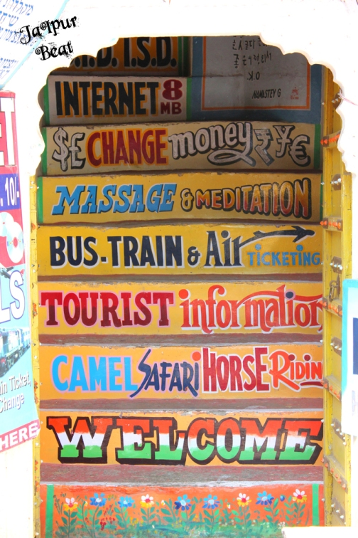 Believe it or not, these are painted stairs leading to the shop where all these services are offered