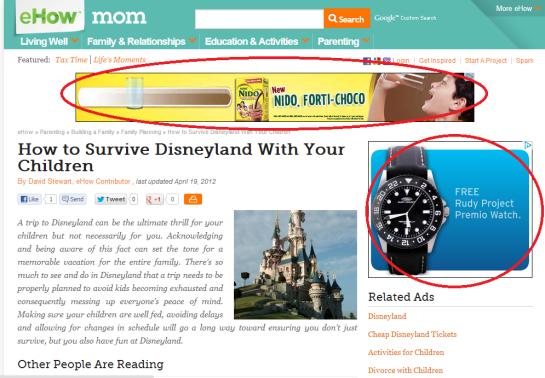 online ads