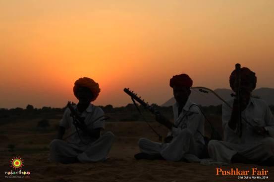 folk music on the sand dunes