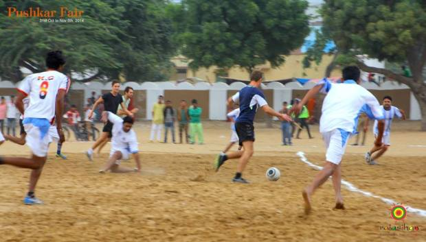 football match at the Pushkar Fair