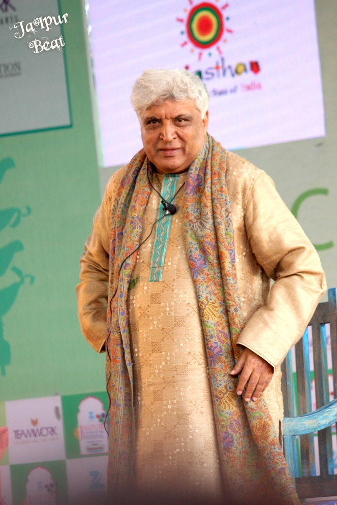 Javed Akhtar at JLF 2015 clicked by  Jaipur Beat
