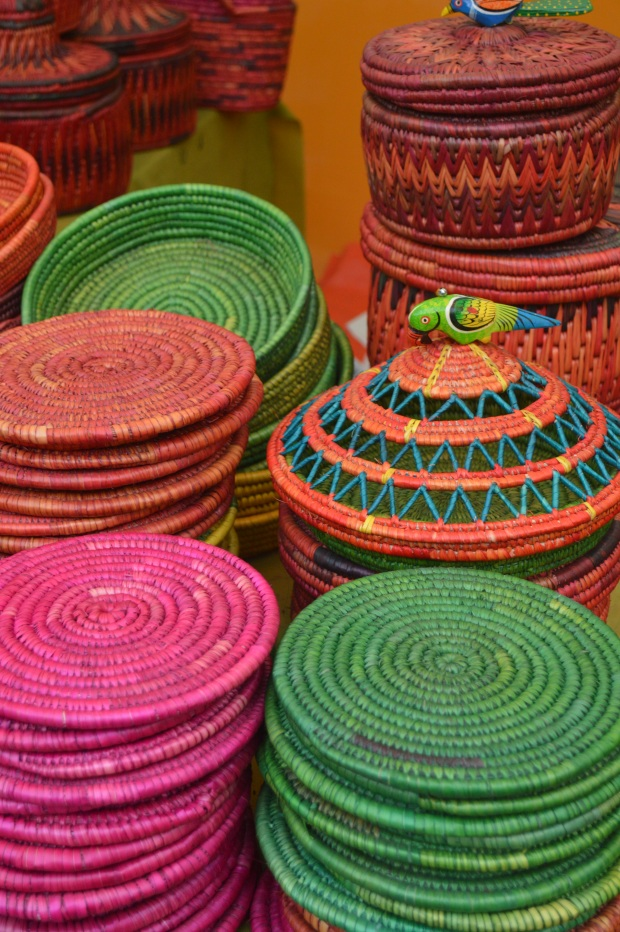 Moonj basketry crafts from UP