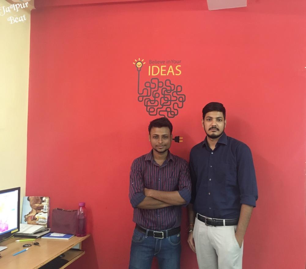 Vivek Gulati and Vivek Bansal at the office of Jaipur Beat.