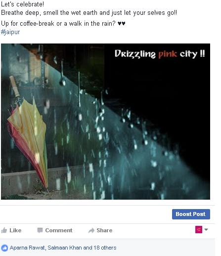 Drizzling Pink City
