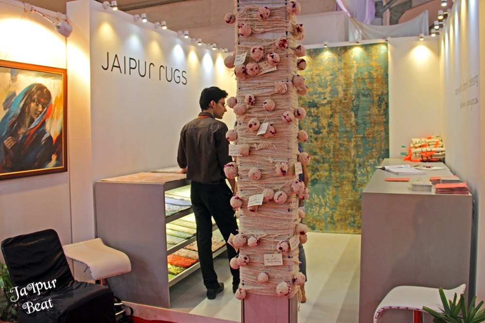 Stall of Jaipur Rugs at Arcasia, jaipur