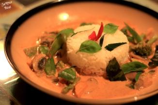 Jasmine Rice with yellow curry