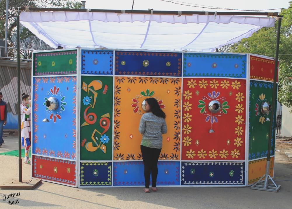 Display at Jaipur Art Summit