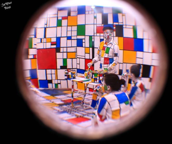 Kaleidoscopic view at Jaipur Art Summit