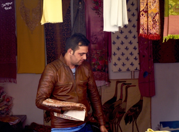 Handcrafted shwal at JKK