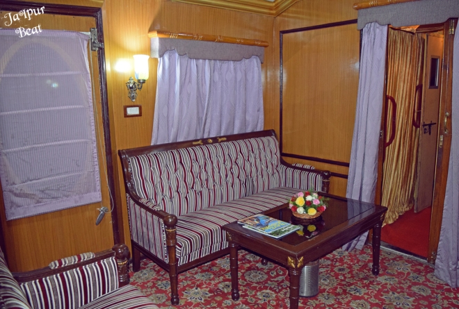 Lounge in Palace on Wheels