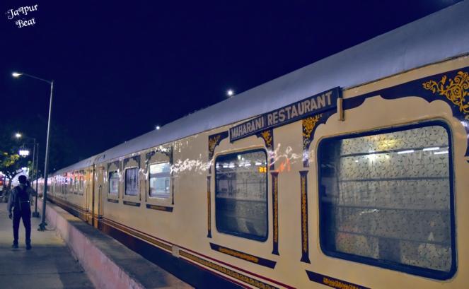 Palace on Wheels at Durgapura Railway Station