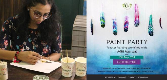 Feather painting workshop
