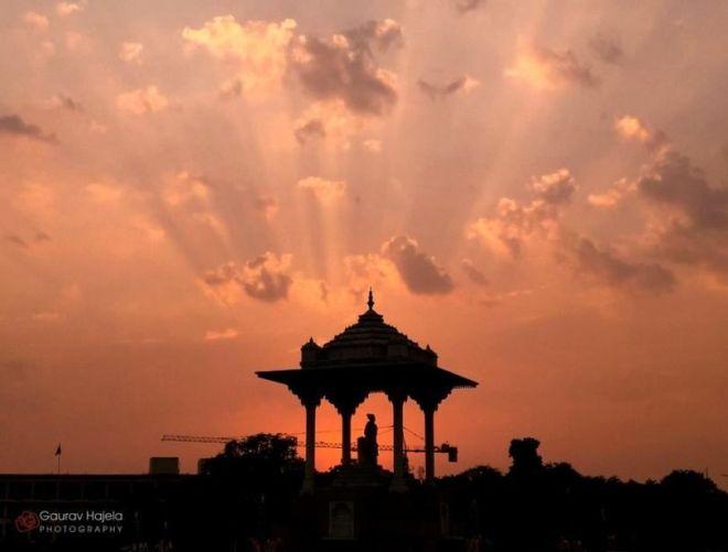 Statue Circle - sunset