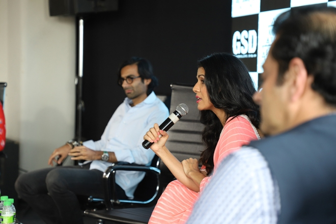 Nimrat Kaur sharing her views on importance of time management in the film industry .JPG