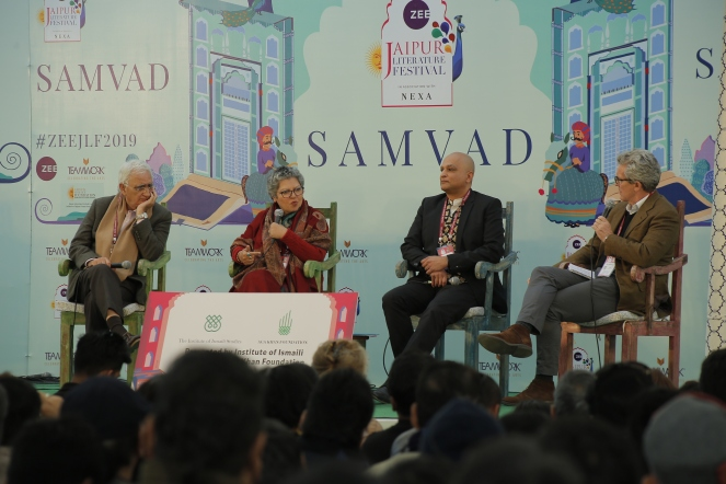 day 4_islam multiple histories _left to right_salman khurshid _rana safvi_zulfikar hirji_max rodenbeck