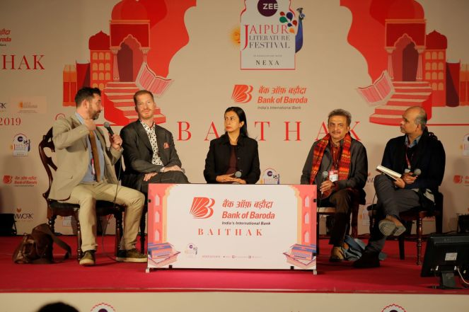 day 5_beginnings and endings_from l-r_paul mcveigh_andrew sean greer_anjum hasan_jayant kaikani_mahesh rao