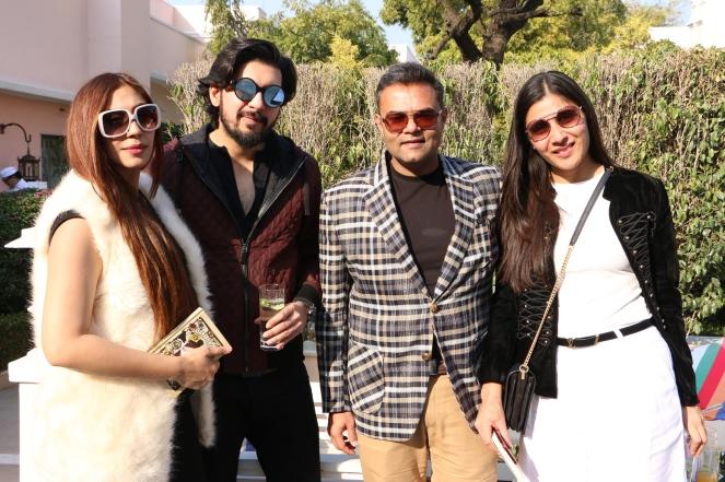 Kirti and Bikhil Madan with Siddharth and Yogita